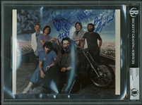 "Grateful Dead Group Signed 8"" x 10"" Color Promotional Photograph w/ Garcia! (Beckett Encapsulated)"