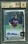 Cody Bellinger Signed 2015 Bowman Chrome Refractor Rookie Card BGS Graded 9.5 w/ 10 Auto!
