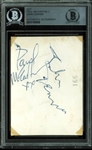 "The Beatles Dynamic Duo: John Lennon & Paul McCartney Dual-Signed 2.5"" x 3.5"" Album Page (BAS/Beckett Encapsulated)"