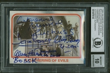 "1980 Star Wars ESB #73 ""A Gathering Of Evils"" Signed Card w/ Prowse, Bulloch & Others Beckett GEM MINT 10!"