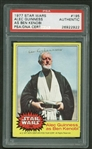 Alec Guinness RARE Signed 1977 Star Wars #195 Trading Card (PSA/DNA)