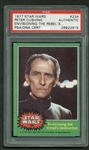 "Peter Cushing RARE Signed 1977 Star Wars #234 ""Envisioning The Rebels Destruction"" Card (PSA/DNA)"
