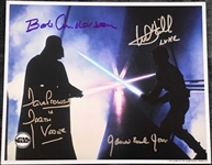 Darth Vader & Luke Skywalker: Multi-Signed OPX Photograph w/ Hamill, Prowse, Jones, and Anderson (BAS/Beckett Guaranteed)