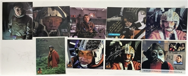 "The Galactic Republic Fighters Lot of Nine (9) Signed 8"" x 10"" Color Photographs (Beckett/BAS Guaranteed)"