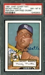 Mickey Mantle Signed 1991 East Coast National Topps 52 Reprint (PSA Graded NM-MT 8)