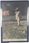 "Buzz Aldrin Impressive Over-Sized 22"" x 33"" Signed ""We Came in Peace for All Mankind"" Poster (Beckett/BAS Guaranteed)"