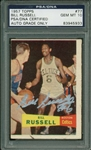 Bill Russell Rare Signed 1957 Topps Rookie Basketball Card! (PSA/DNA Graded GEM MINT 10)