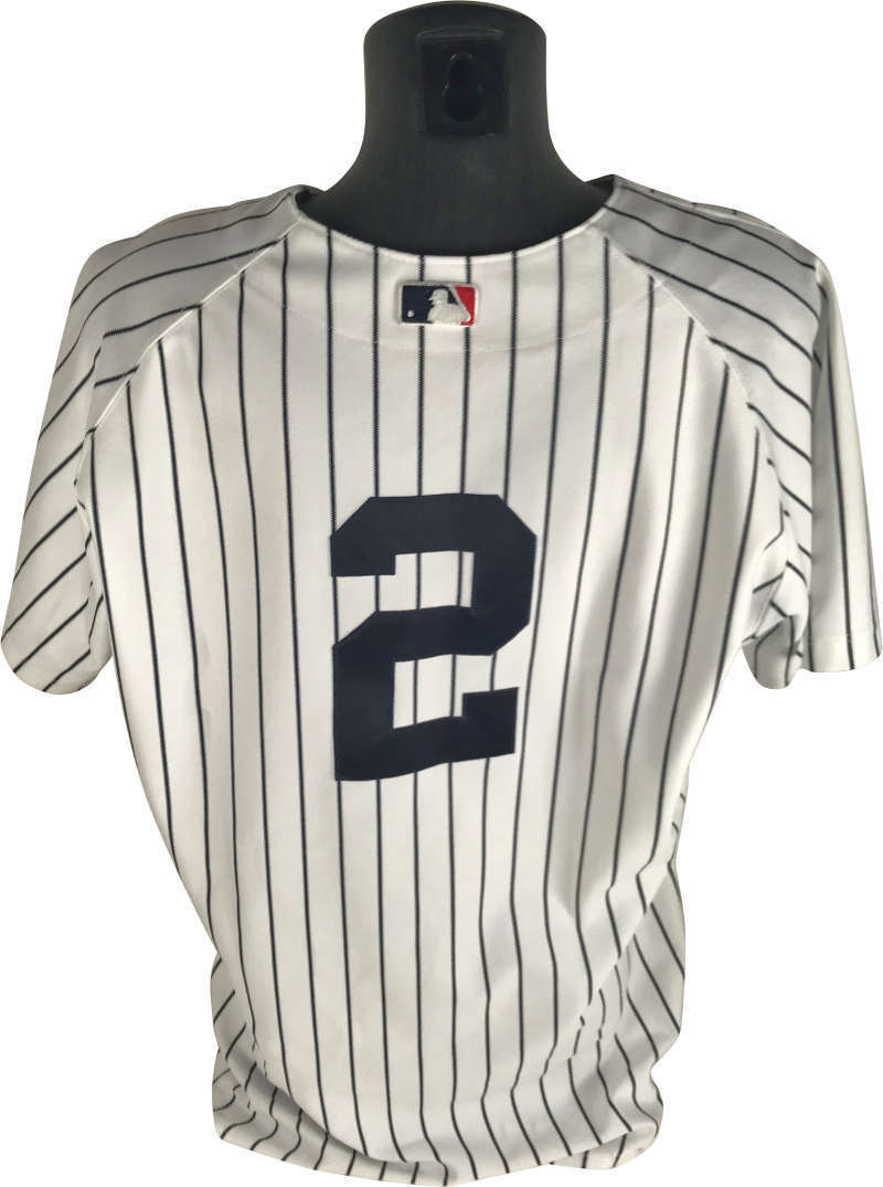 Derek Jeter Game Used 2002 New York Yankees Home Pinstripes Jersey  (Steiner) ... 9655ac67332