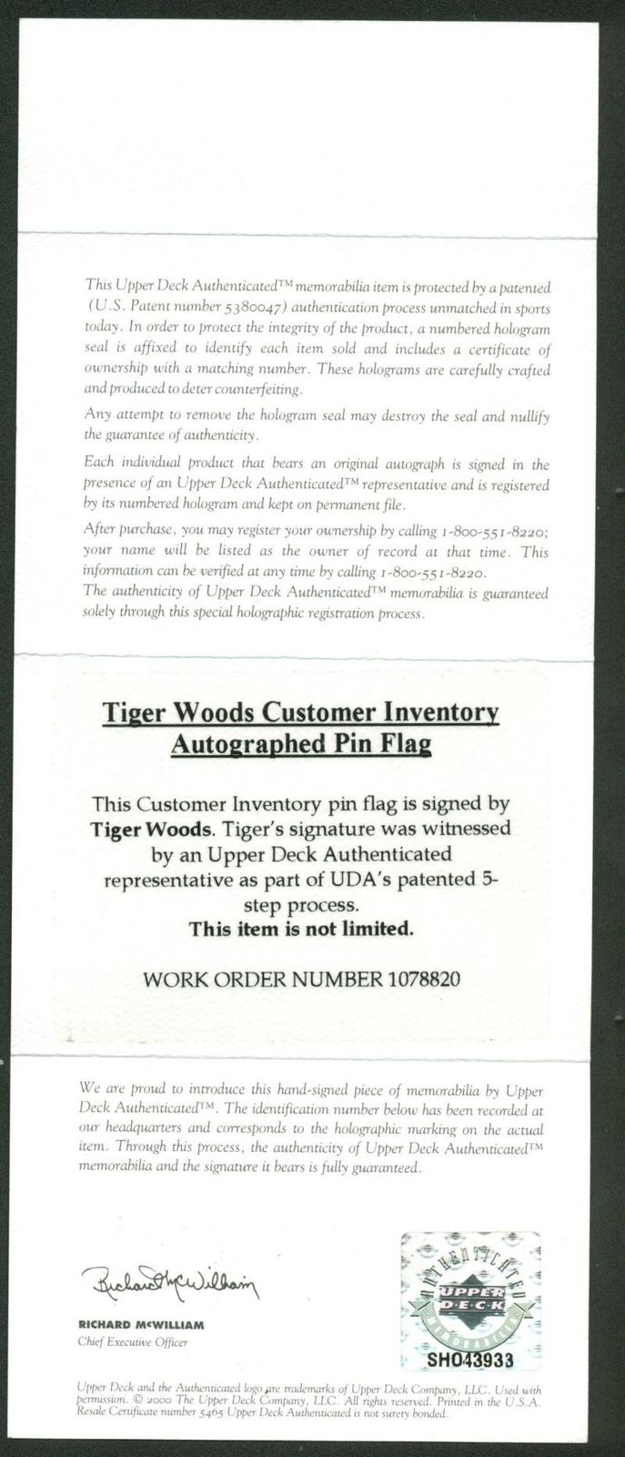 Lot detail tiger woods signed masters tournament used golf flag tiger woods signed masters tournament used golf flag green jacket upper deck 1betcityfo Image collections