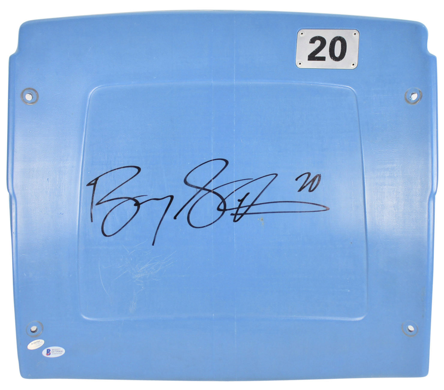competitive price 9d806 f9f04 Lot Detail - Barry Sanders Signed Pontiac Silverdome Seat ...