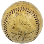 1927 Philadelphia Athletics Team-Signed OAL (Johnson) Baseball w/ Cobb, Foxx, and More! (20 Sigs)(JSA)