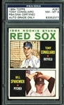 Tony Conigliaro Signed 1964 Topps #287 Rookie Card (PSA/DNA Graded NM-MT 8)