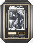 The Godfather Rare Dual-Signed Signature Display w/ Marlon Brando & Al Pacino (BAS/Beckett)