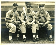 "Giants Legends: Mel Ott, Carl Hubbell & Jimmy Ripple Signed 8"" x 10"" Type I George Burke Photograph (JSA)"