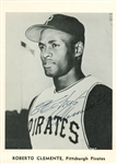 "Roberto Clemente Vintage Signed 5"" x 7"" Black & White Photograph (JSA)"