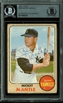 Mickey Mantle Signed 1968 Topps #280 Card (BAS/Beckett Encapsulated)