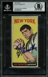 Joe Namath Signed 1965 Topps #122 Rookie Card (BAS/Beckett Encapsulated)