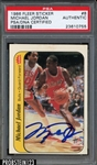 Michael Jordan Signed 1986-87 Fleer Sticker #8 Rookie Card (PSA/DNA Encapsulated)