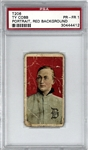 Ty Cobb T206 Portrait Red Background Baseball Card - PSA 1