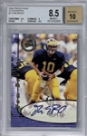Tom Brady Signed 2000 Press Pass #3 Rookie Card - BGS 8.5 w/ 10 Auto!