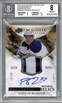 2015 Upper Deck Exquisite Collection Connor McDavid Signed Rookie Card - BGS 8 w/ 10 Auto!
