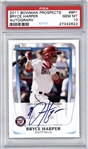 2011 Bowman Prospects Bryce Harper Signed #BP1 Rookie Card - PSA Graded GEM MINT 10!