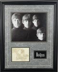 The Beatles Group Signed & Framed c. 1962 Album Pages Display w/ All Four Members! (Beckett/BAS)