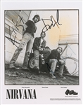 "Nirvana Group Signed 8"" x 10"" Nevermind-Era c. 1991 Promotional Photograph w/ Cobain! (Real/Epperson)"