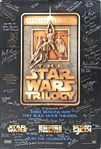 Star Wars Impressive Cast Signed Trilogy Poster w/ Ford, Fisher, 50+ Others! (Beckett/BAS)