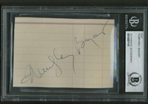 "Humphrey Bogart Near-Mint Signed 2.5"" x 4.5"" Album Page (Beckett/BAS Encapsulated)"