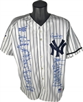 1999 NY Yankees Vintage Team Signed World Series Jersey w/ Jeter & Rivera! (JSA)