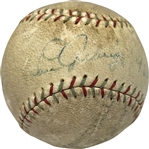 Lou Gehrig & Babe Ruth Dual Signed Baseball w/ Rare Gehrig Sweet Spot! (PSA/DNA)