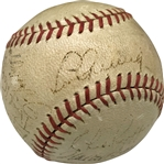 Rookie DiMaggio: 1936 Yankees Team Signed OAL Baseball w/ Gehrig/DiMaggio ULTRA-RARE Dual Display! (SGC)