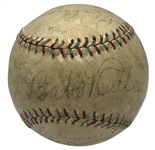 1934 New York Yankees Signed Baseball w/ Ruth & Gehrig! (PSA/DNA)
