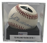 Ted Williams Near-Mint Signed OAL Baseball - PSA/DNA MINT 9!