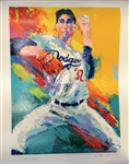 "Sandy Koufax & LeRoy Neiman Signed c. 1990 Limited Edition 30"" x 39"" Serigraph Artwork (Beckett/BAS Guaranteed)"