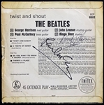"The Beatles: Paul McCartney & Ringo Starr Dual Signed 1963 ""Twist & Shout"" Vintage 7"" Parlaphone 45rpm (PSA/DNA)"