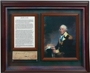Incredibly Rare Benedict Arnold Handwritten & Signed Note in Custom Framed Display (JSA)