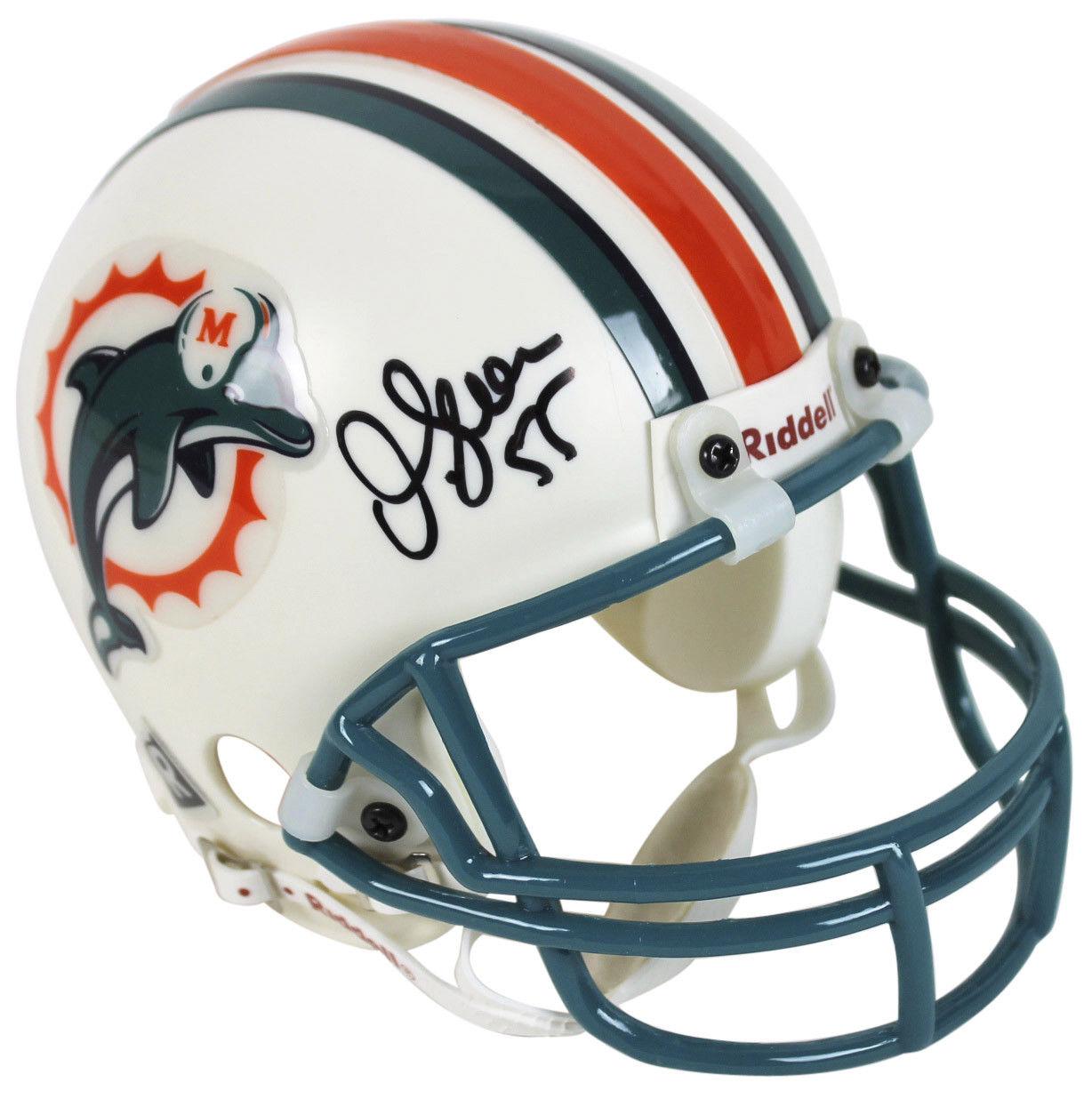 newest 353c6 80809 Lot Detail - Junior Seau Signed Miami Dolphins Mini Helmet (JSA)