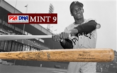 EXTREMELY RARE Roberto Clemente 1969 Game Used Hillerich & Bradsby G105 Baseball Bat - PSA/DNA Graded GU 9!