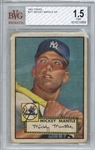 1952 Topps #311 Mickey Mantle Rookie Card - Beckett/BGS 1.5 w/ Excellent Centering!