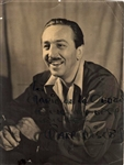 "Walt Disney Signed 7"" x 9"" Vintage Photograph (Beckett/BAS)"