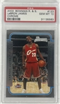 2003 Lebron James Bowman #123 Rookie Card - PSA Graded GEM MINT 10