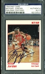 Michael Jordan Signed 1990-91 Star Ad Card (PSA/DNA Encapsulated)