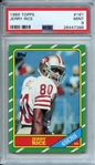 Jerry Rice 1986 Topps Rookie Card - PSA Graded MINT 9!