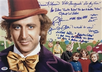 "Willy Wonka & the Chocolate Factory Cast Signed 12"" x 18"" Photo w/ Wilder, etc. (6 Sigs)(PSA/DNA)"