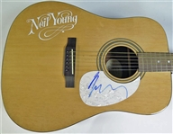Neil Young Signed Acoustic Guitar (PSA/DNA)