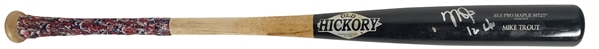 Incredible Mike Trout Game Used & Signed 2016 (MVP Season) Old Hickory Model Bat - PSA/DNA Graded GU 10!