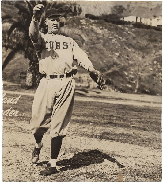 Grover Cleveland Alexander ULTRA-RARE Signed 6 x 7 Glossy Chicago Cubs Photograph (JSA)