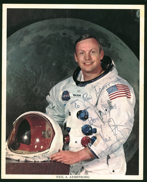 Apollo 11: Neil Armstrong Signed & Inscribed 8 x 10 Official NASA Portrait Photo (JSA)